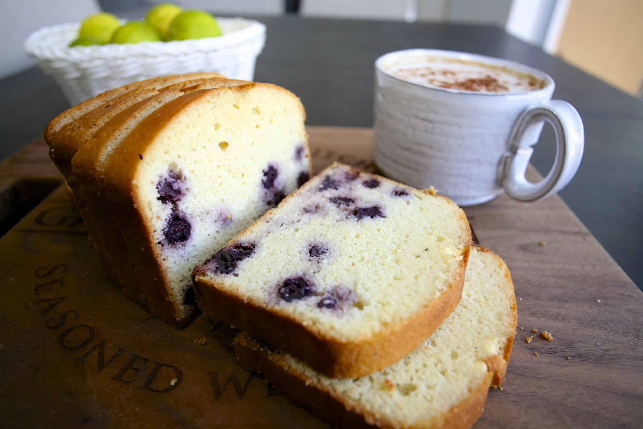 生酮甜點-檸檬藍莓磅蛋糕