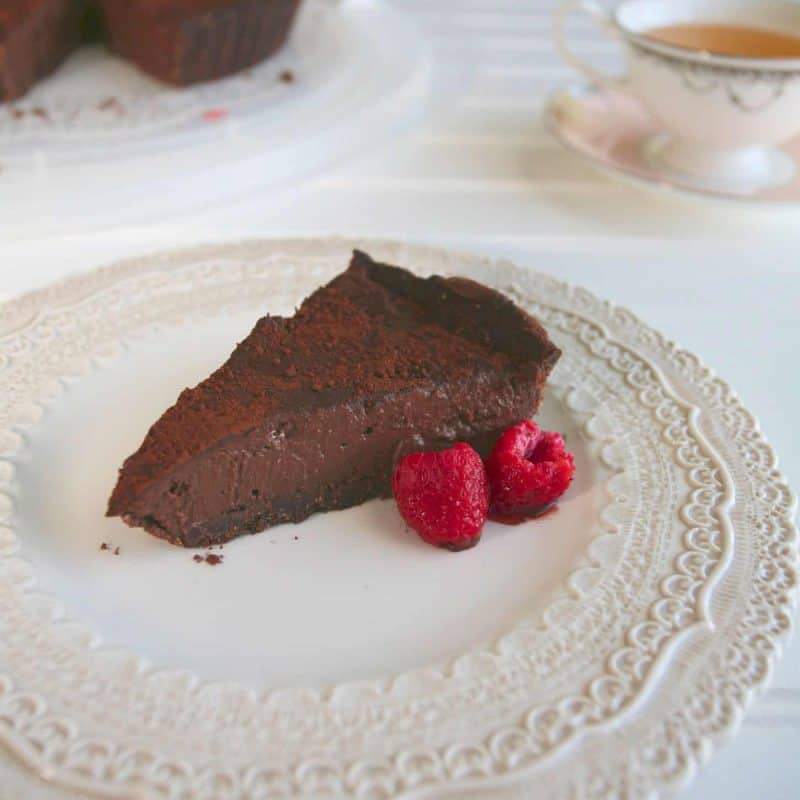 [生酮甜點] 覆盆莓巧克力派 Raspberry Chocolate Cream Pie- 無奶減醣