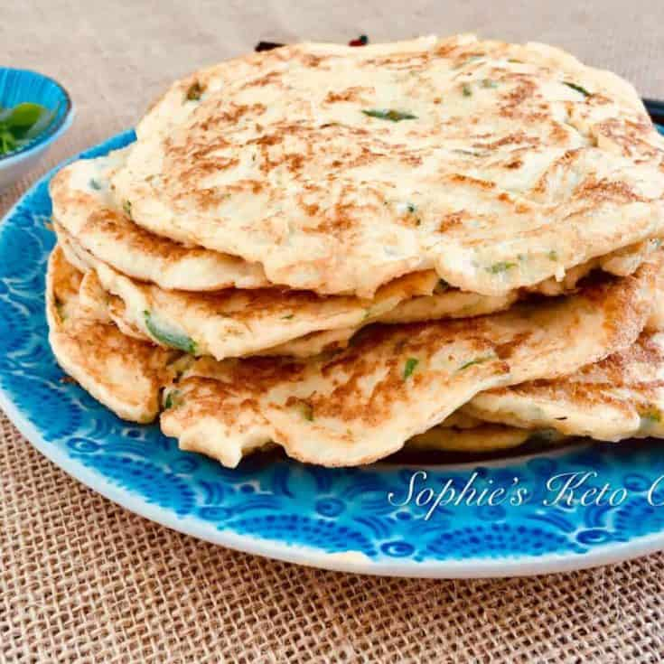 [中式生酮食譜] 生酮蔥油餅 Keto Scallion Pancakes – 淨碳水1g