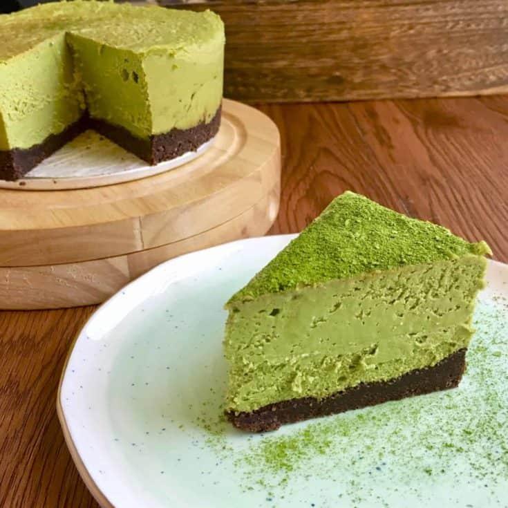 [生酮甜點] 生酮抹茶起司蛋糕 Keto Matcha Cheesecake-無糖無麩質