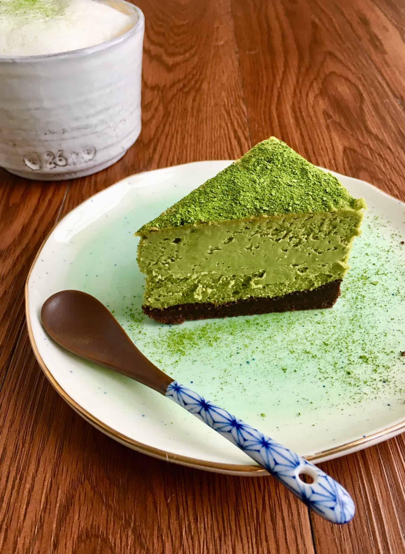 Keto Matcha Cheesecake