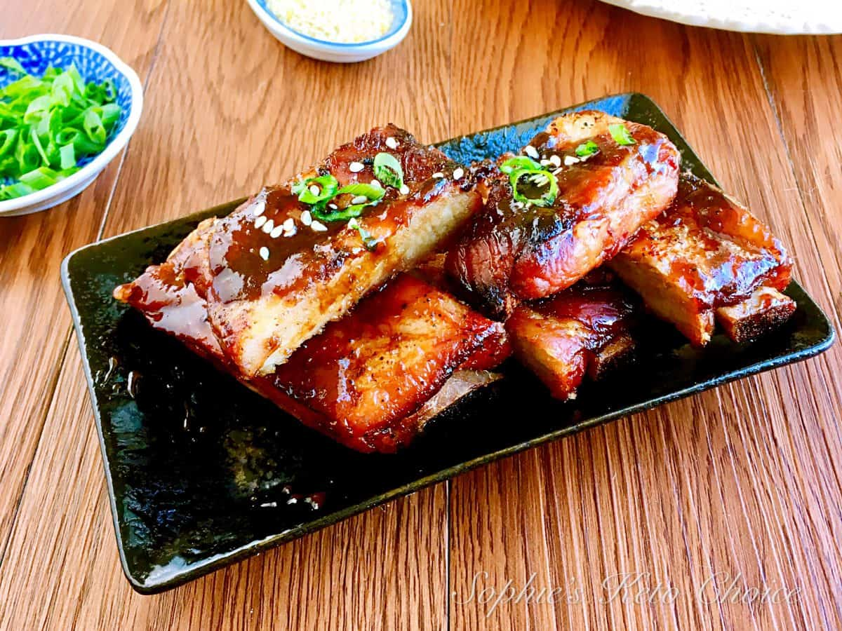 [中式生酮食譜] 蜜汁排骨 –中式烤BBQ蜜汁肋排,讓你吮指到欲罷不能!