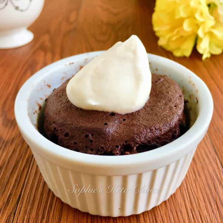 1分鐘 免烤生酮巧克力蛋糕 – 真的只要1分鐘!懶人專用[生酮甜點]