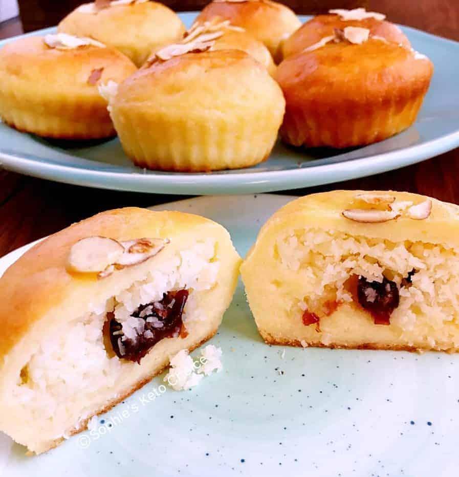 生酮椰子奶酥麵包 -生酮麵包可以這麼好吃!淨碳6g, 附製作影片