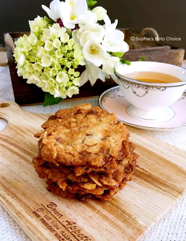 [生酮餅乾] 杏仁瓦片 Tuiles Amande- 簡單卻精緻的法式餅乾-剩餘蛋白利用