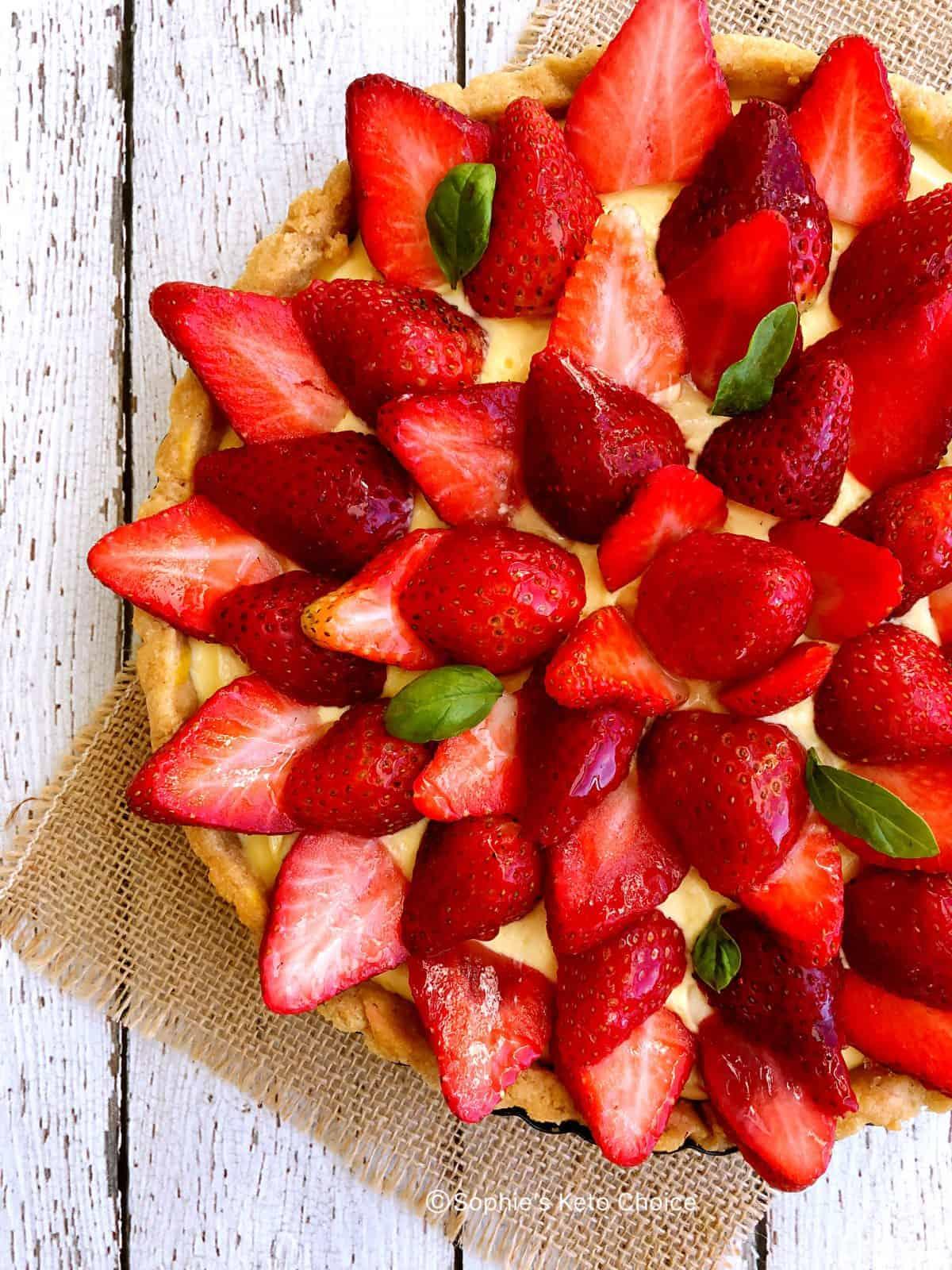 生酮草莓塔