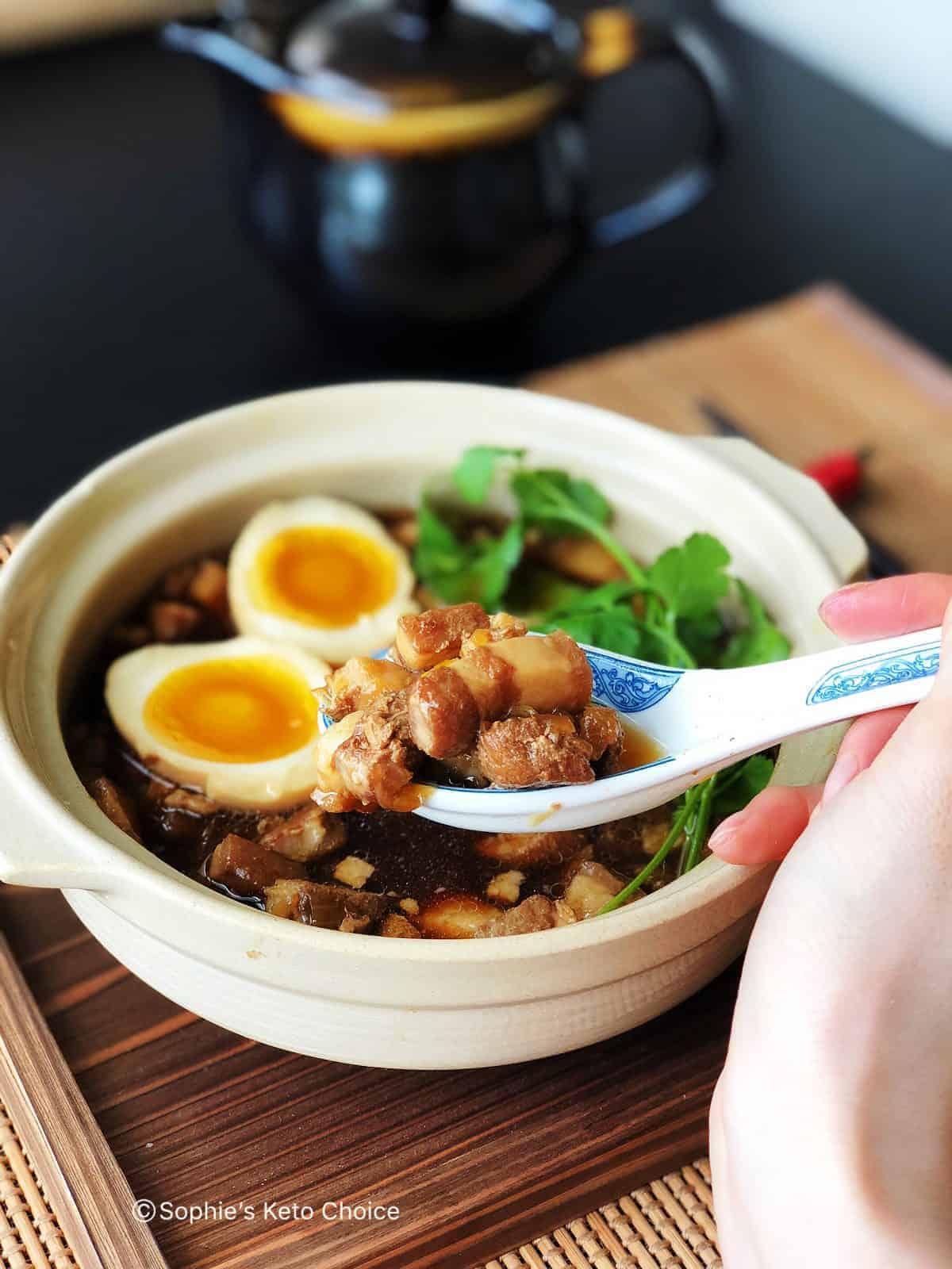 家常滷肉燥&滷溏心蛋-肥而不膩入口即化(瓦斯爐、壓力鍋兩種做法)