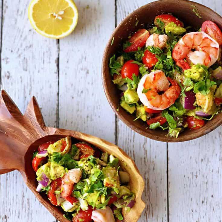 鮮蝦酪梨莎莎 Shrimp Avocado Salsa- 免開火的夏日廚房救星!