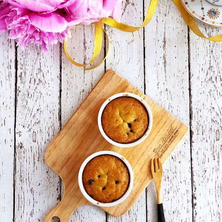 免烤1分鐘生酮巧克力豆馬克杯蛋糕- 雞蛋糕蓬鬆口感- 淨碳3.5g