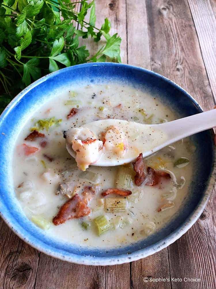 生酮海鮮巧達湯
