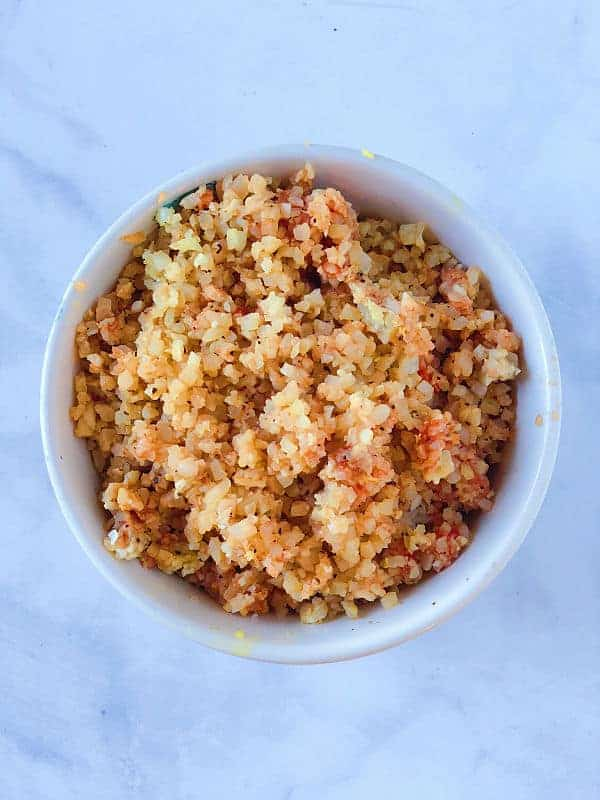 蝦仁蕃茄蛋炒花椰菜飯