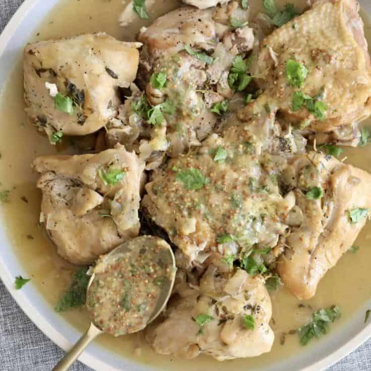 白酒燉雞 -讓雞肉變超嫩的鹽漬法(brine)-Instant Pot壓力鍋