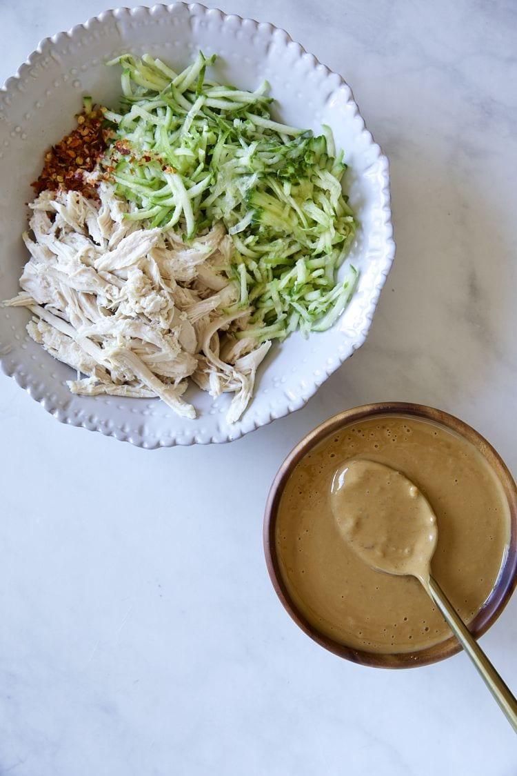麻醬涼拌雞絲小黃瓜 自製麻醬