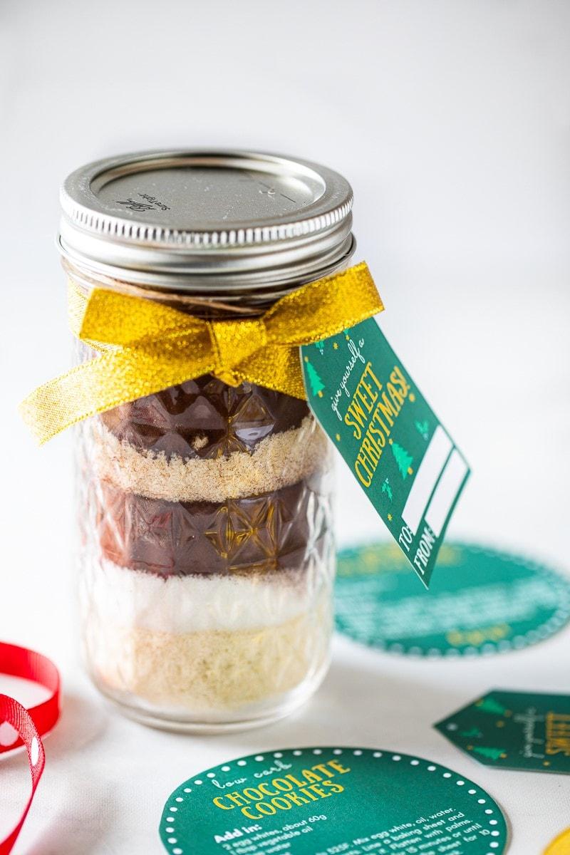 低醣巧克力餅乾預拌粉梅森罐