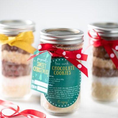 低醣巧克力餅乾預拌粉梅森罐 英文吊牌