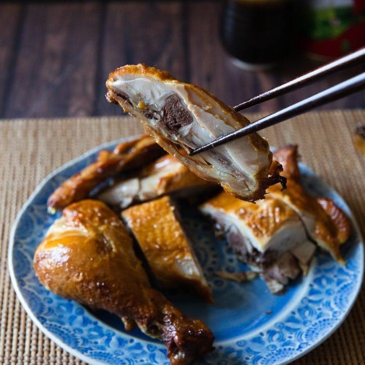 茶香燻雞 -不需煙燻鍋!在家就能簡單做!雞肉嫩滑緊實有彈性