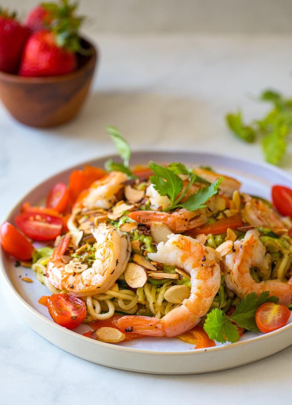 明蝦青醬櫛瓜麵 -簡單快手!低卡輕食減醣菜單,生酮低醣可食