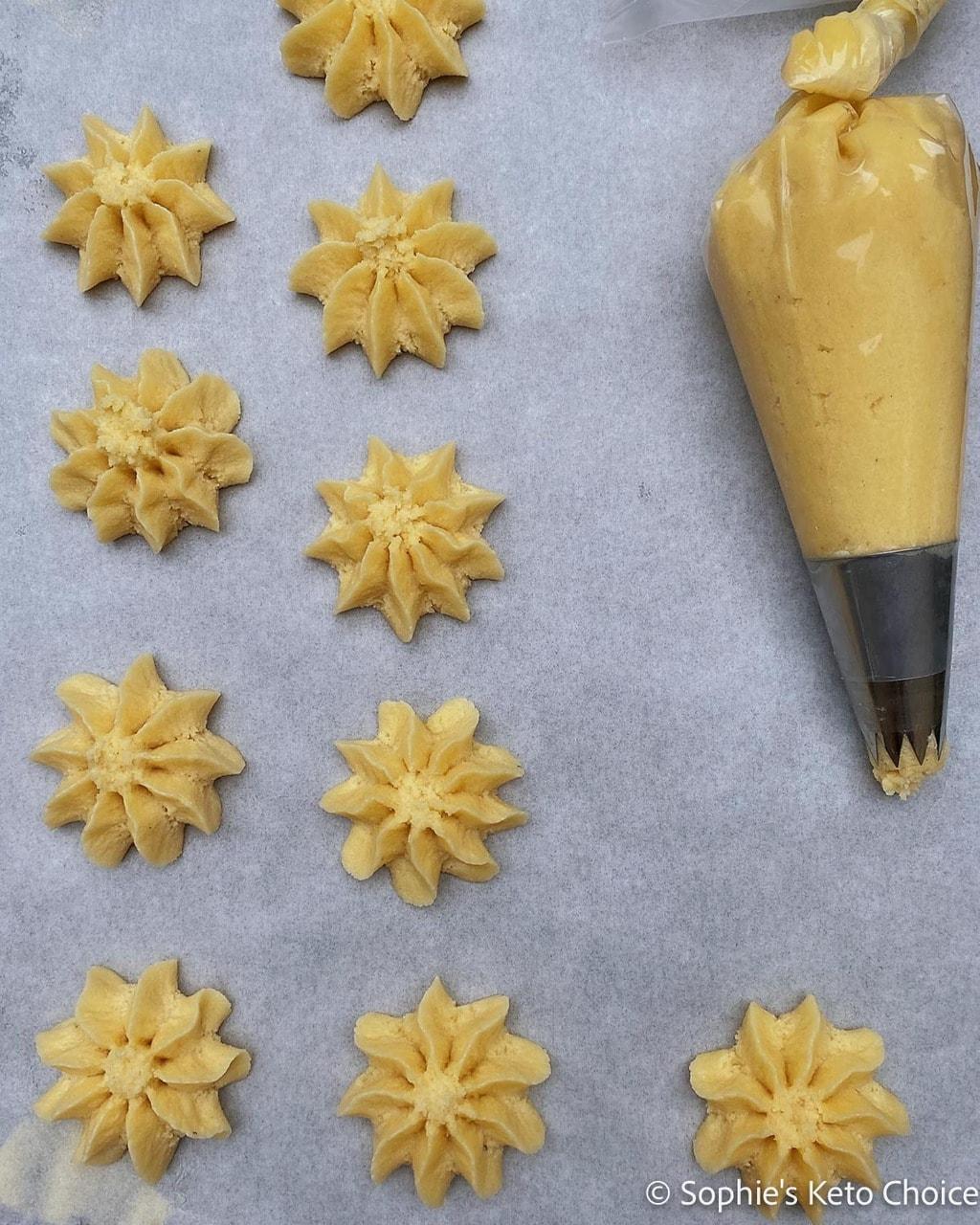 生酮丹麥奶油餅乾步驟圖