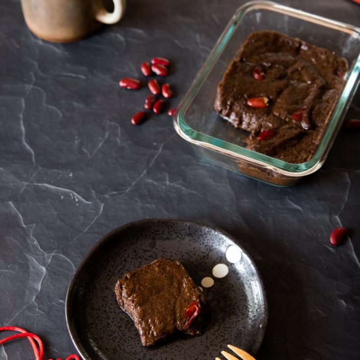 生酮紅豆年糕 Keto Red Bean Rice Cake, 5種材料,5分鐘!過年必備